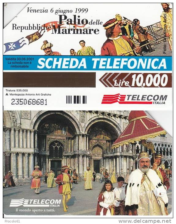 GOLDEN 992 VENEZIA PALIO REPUBBLICHE MARINARE  Us. Tir. 535.000 - Pubbliche Pubblicitarie