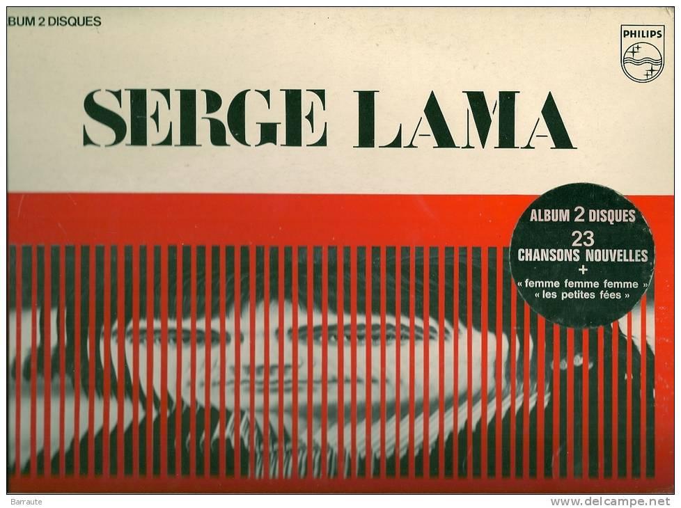 "SERGE LAMA "" Enfadolescence"" 1978 Phonogram  2 X 33t  TBE . 3 Photos+ Signature Manuscrite - Jazz"