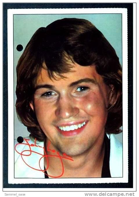 Alte Reproduktion Autogrammkarte  -  Johnny Logan  -  Von Ca. 1980 - Autogramme