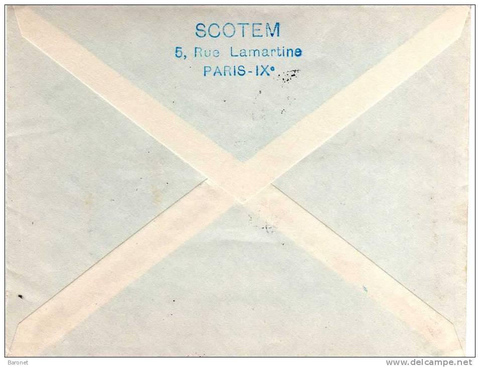 N° 837 N° 903 ( Yvert ) S / Imp T.P. Ob Daguin 14 2 1952 Avon / Son Eglise / Du Xème / Siècle - Postmark Collection (Covers)