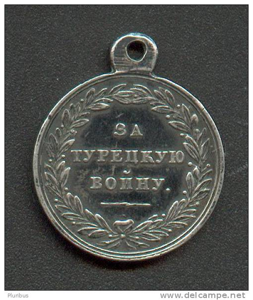 IMP. RUSSIA SILVER MEDAL 1828-1829 TURKISH WAR - Before 1871