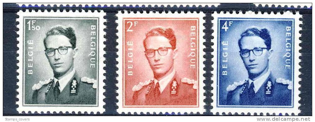 BELGIUM MNH** COB 924/26 - 1953-1972 Bril