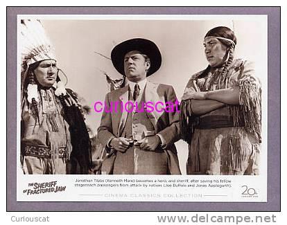 POSTER CARD  For The FILM  THE SHERRIFF OF FRACTURED JAW With KENNETH MORE JOE BUFFALO JONAS APPLEGARTH CINEMA CLASSIC - Manifesti Su Carta