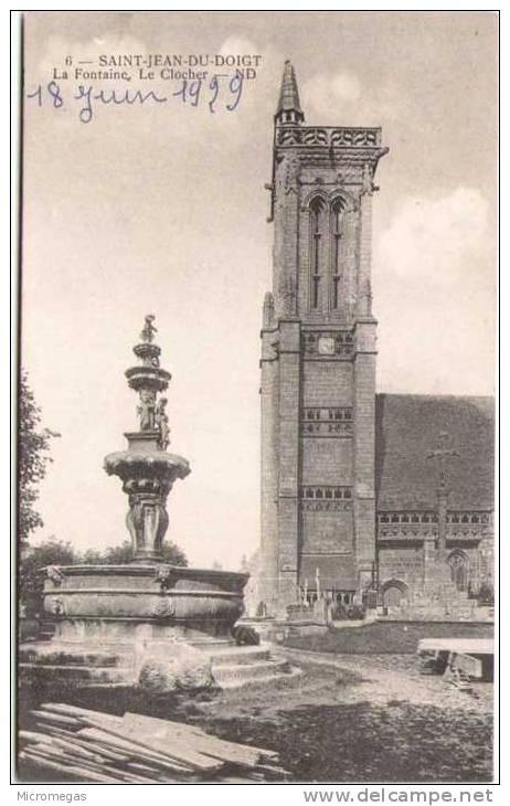 SAINT-JEAN-DU-DOIGT - La Fontaine, Le Clocher - Saint-Jean-du-Doigt