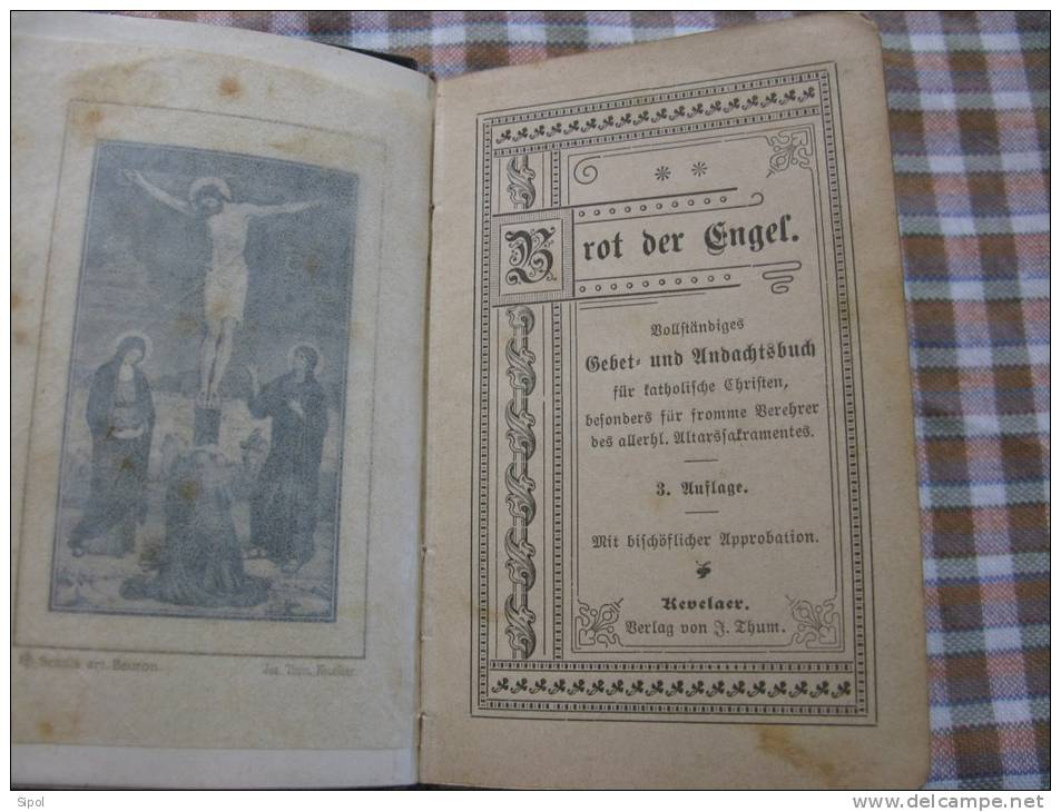 Brot Der Engel  Livre De Piété En Allemand Gothique- Début 1900...? - Christianisme