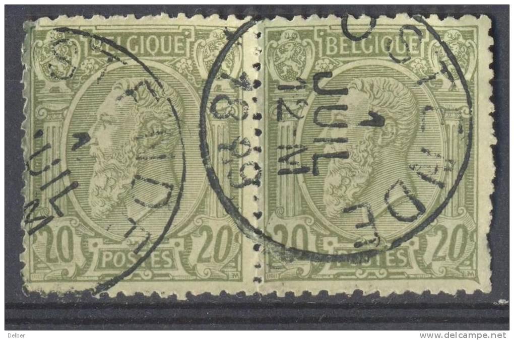 _Zt891: N° 47: E9 : OSTENDE: Paar - 1884-1891 Léopold II