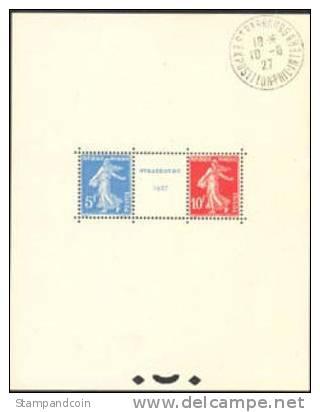 France #241 Used Strasbourg Exhibition Souvenir Sheet Of 1927 - France
