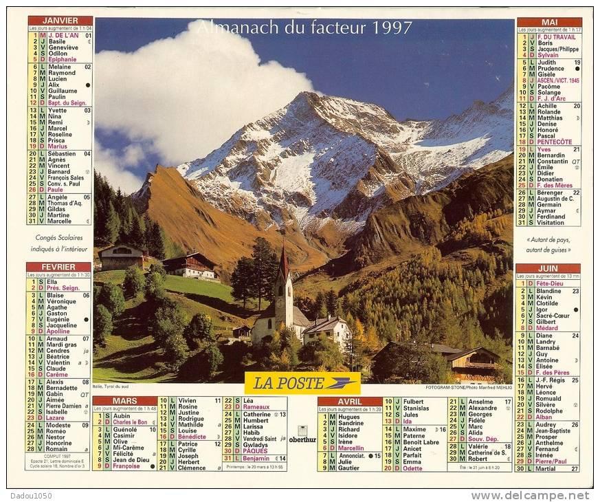 ALMANACH DES PTT  1997 RHONE - Grand Format : 1991-00