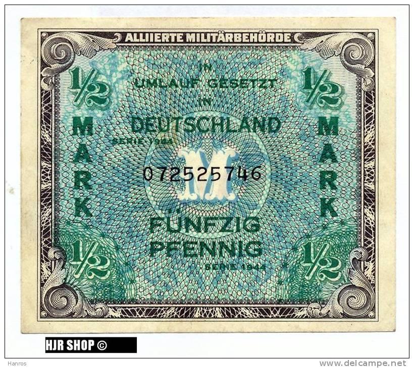 Deutschland Unter Alliierter Besetzung 1945-1948,Rosenberg 200a. 1/2 Mark 1944 - [ 5] 1945-1949 : Occupazione Degli Alleati