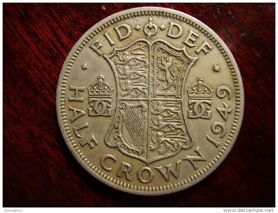 Great Britain 1950 GEORGE VI  HALF CROWN  USED GOOD CONDITION. - 1902-1971 : Post-Victorian Coins