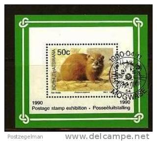 BOPHUTHATSWANA 1990 CTO Block 5 Mammals # 5344A - Stamps