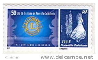 Nouvelle Caledonie Timbre Personnalise Prive 50 Anniversaire Clu Lion Lionisme Noumea 16/04/2011 Neuf Unc TBE - Nuova Caledonia