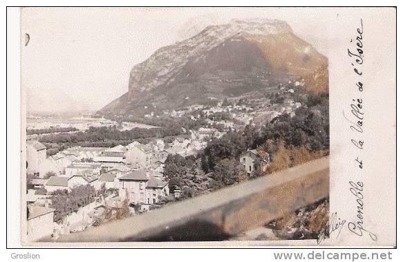 GRENOBLE ET LA VALLEE DE L'ISERE CARTE PHOTO 1928 - Grenoble