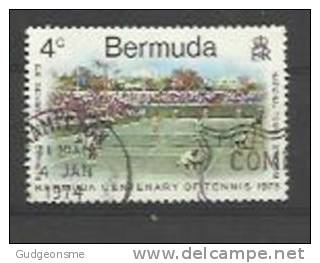 BERMUDA 1973 Tennis 4c Used - Bermuda