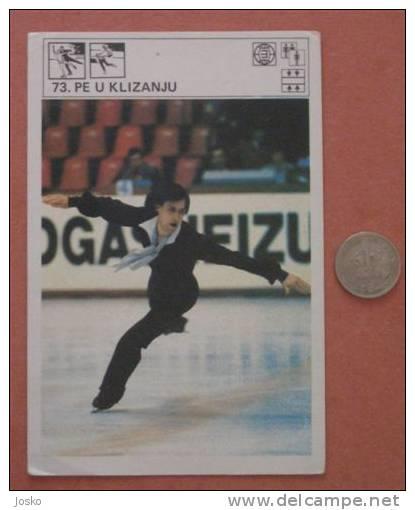 FIGURE SKATING EUROPEAN CHAMPIONSHIPS 1973. ( Yugoslav Vintage Card Svijet Sporta ) Patinage Artistique Eiskunstlauf - Skating (Figure)