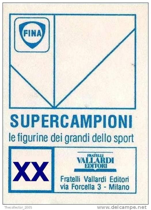 Figurine / Stickers - Supercampioni - Vallardi-Fina : N.41 - Alberto Cova - Panini