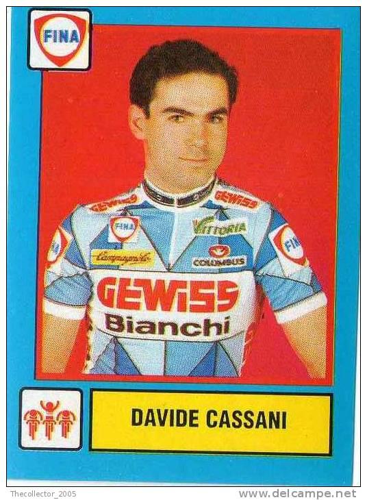 Figurine / Stickers - Supercampioni - Vallardi-Fina : N.03 - Davide Cassani (ciclismo - Cycling - Cyclisme - Radfahren)) - Panini