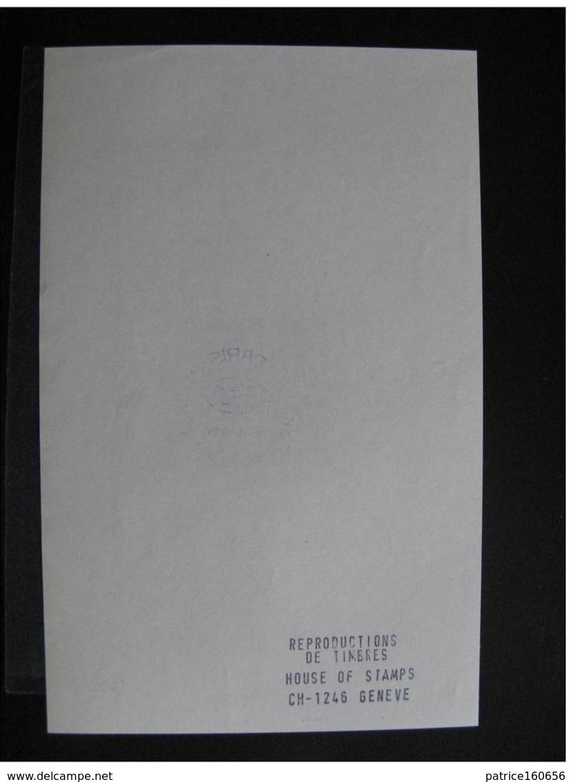 TB Retirage Privé Du BF 1, Pour L'Expo. De 1989, Par Une Société Suisse De Reproduction De Timbres. Neuf XX. - Sheetlets