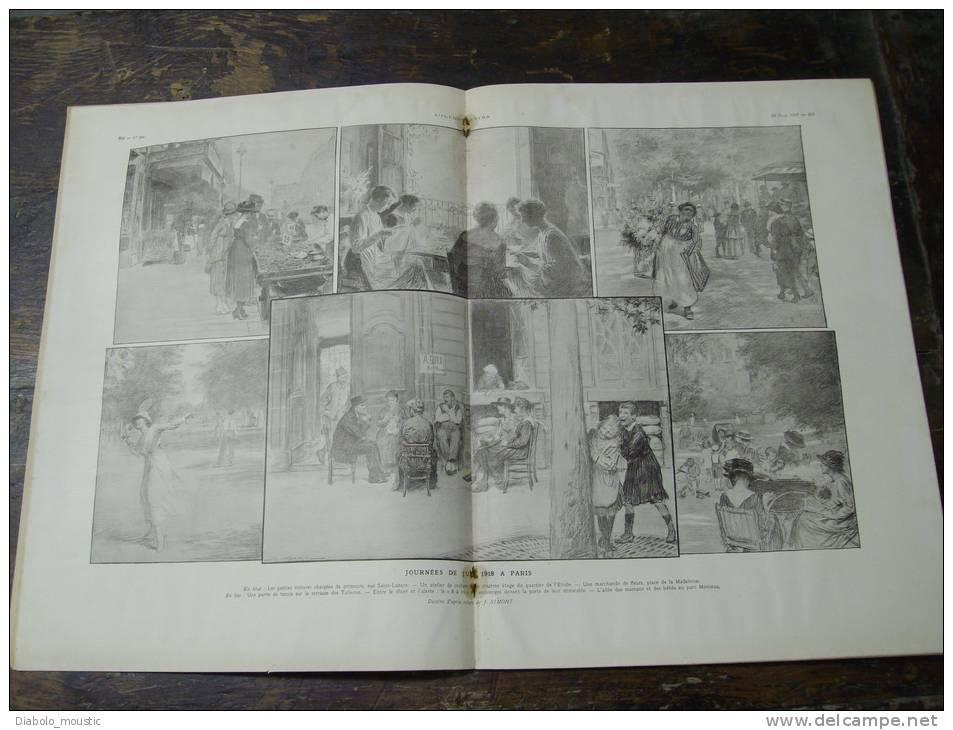 1918 Courcelles,Tronquoy,Belloy ; Rue St Lazare à PARIS ;  Sur La Route De PETROGRAD ;  Pétrozavodsk - Zeitungen
