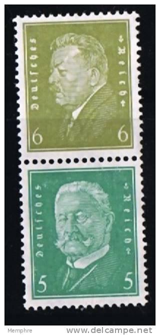 Reichpräsidenten.       6 +5    Mi Nr  S44    * MH - Zusammendrucke
