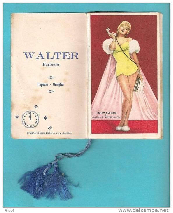 """IMPERIA ONEGLIA WALTER BARBIERE PICCOLO CALENDARIO """" L'ORA DELLE STELLE """" 1961 - Calendriers"""