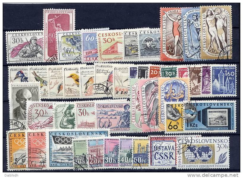 CZECHOSLOVAKIA 1959-62 Range Of Complete Issues Used.   Michel Cat. €28.70 - Czechoslovakia