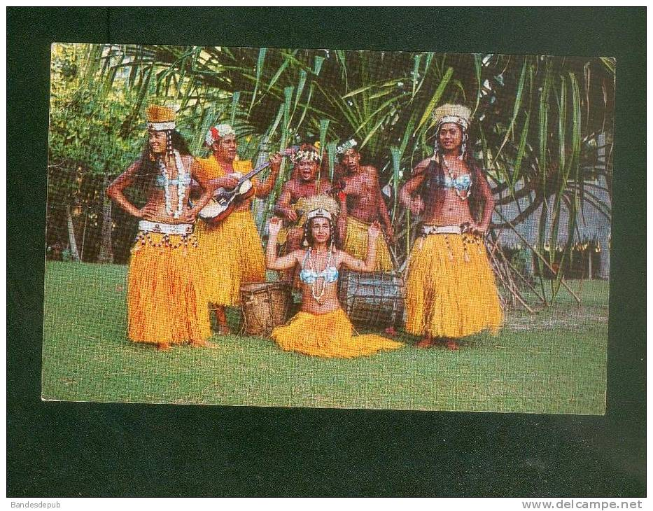 CPSM - TAHITI - Danseuses Du Groupe Tahiti Voyage ( Vahiné Danseuse Phot. Sounam ) - Palau