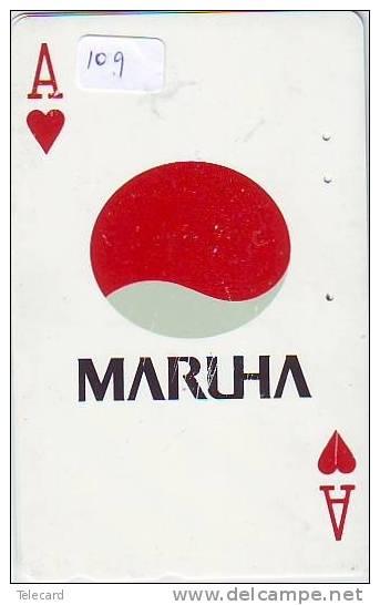 TELECARTE  à Jouer Japon (109)  Japan Playing Card *   Spiel Karte * JAPAN * ACE * - Juegos