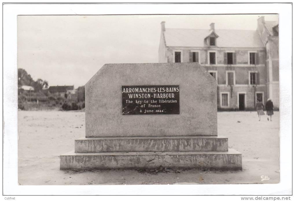 14 - Arromanches-les-Bains               Monument Winston-Harbour - Arromanches