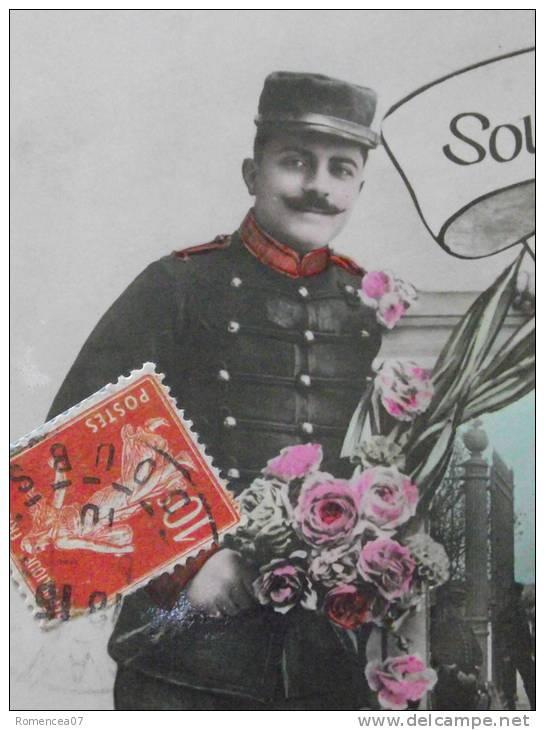 """BESANCON (Doubs) -  """" Souvenir Du 4e D´ARTILLERIE à Besançon """" - Entrée De La Caserne Ruty - Voyagée Le 6 Décembre 1910 - Besancon"""