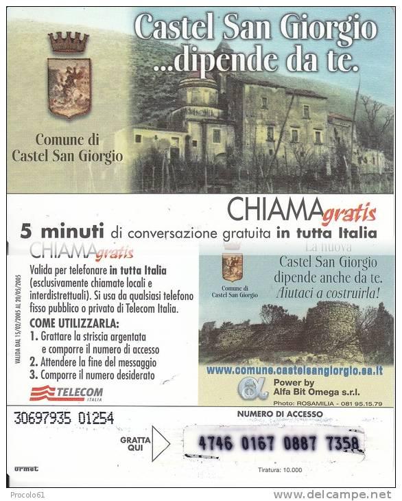 CHIAMAGRATIS COMUNE CASTEL SAN GIORGIO Tiratura 10.000 Usata - Non Classificati