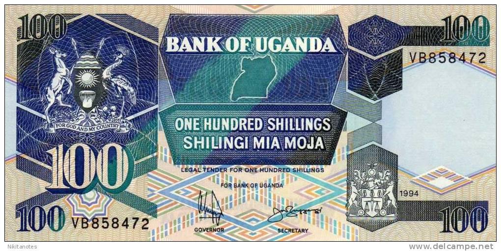 Uganda, 100 Shillings, 1994, P-31 UNC - Uganda