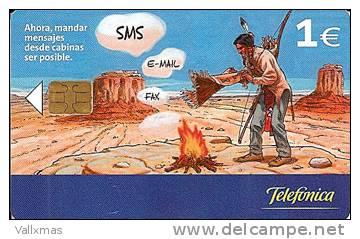 Tarjeta SPAIN - Envio SMS E-MAIL FAX  - Fecha 07/03 Tirada 10500 - España