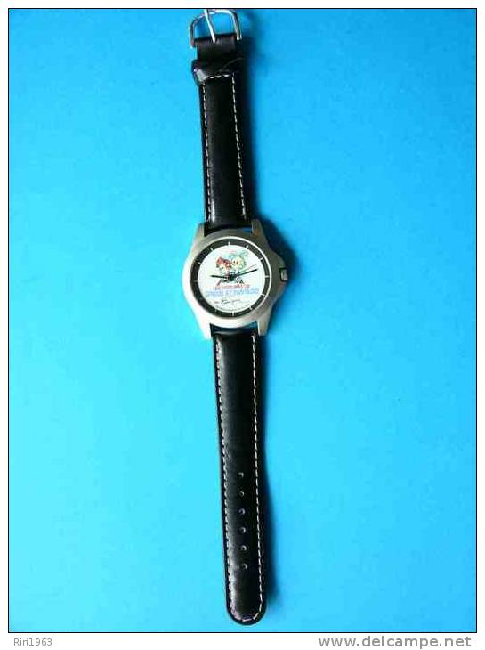 Montre Bracelet -les Voitures De Spirou Et Fantasio Par Franquin - Montres Publicitaires