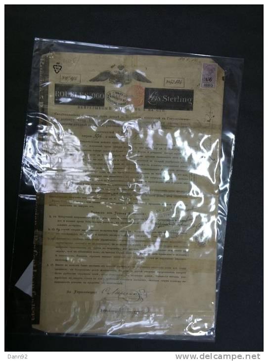 1er Emprunt   Russe  1822  Signé   ROOTSCHILD -   960 Roubles - Actions & Titres