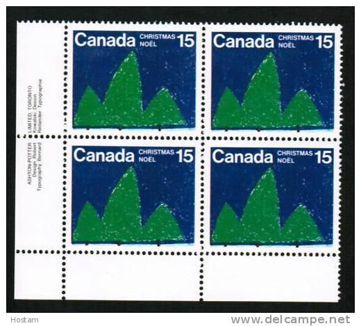 CANADA, 1975, # 679,  CHRISMAS TREE, LL BLOCK  M-NH. - Blocs-feuillets