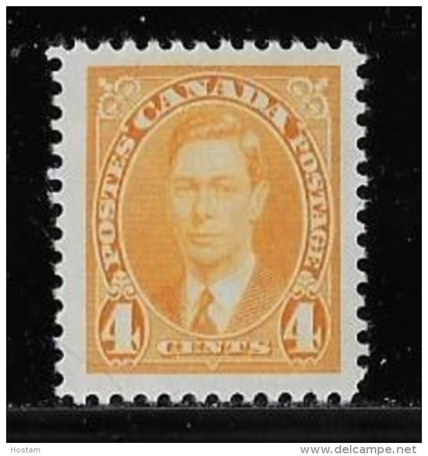 CANADA, 1937,  # 234, K G V1 MULFI  ISSUE, SINGLE  M NH - 1937-1952 Règne De George VI