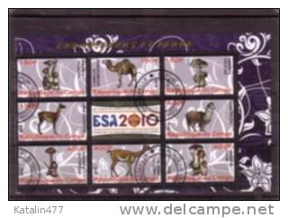 CONGO  - 2010.Mushrooms And Animals   M/S  With 8 Values - Used, - Congo - Brazzaville
