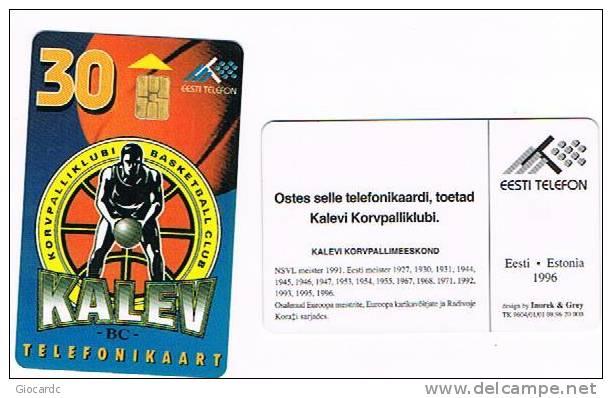 "ESTONIA -  EESTI TELEFON (CHIP) - 1996 BASKETBALL CLUB ""KALEV""       - USED°  -  RIF. 5137 - Estonia"