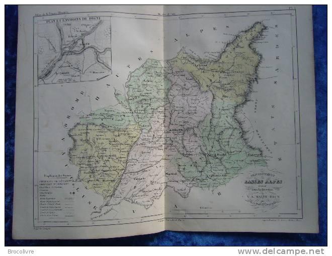 -Malte Brun-1854-Carte Géographique Des Basses Alpes-Plan Et Environs De Digne- - Geographical Maps