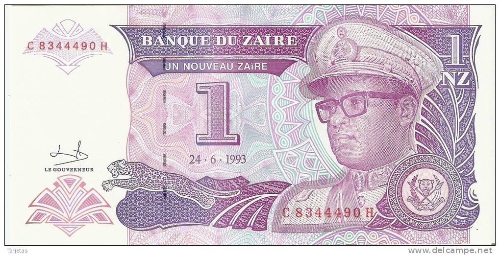 BILLETE DE ZAIRE DE 1 NZ  SIN CIRCULAR  (BANK NOTE) NEW - Zaire
