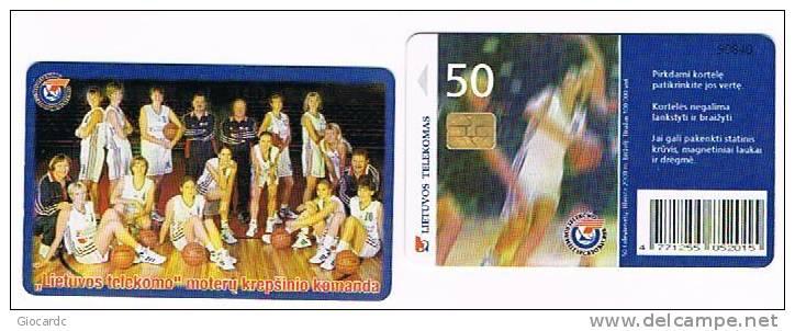 LITUANIA (LITHUANIA) - LIETUVOS TELEKOMAS  (CHIP) -  2000 BASKETBALL TEAM      - USED °  -  RIF. 5192 - Lituania
