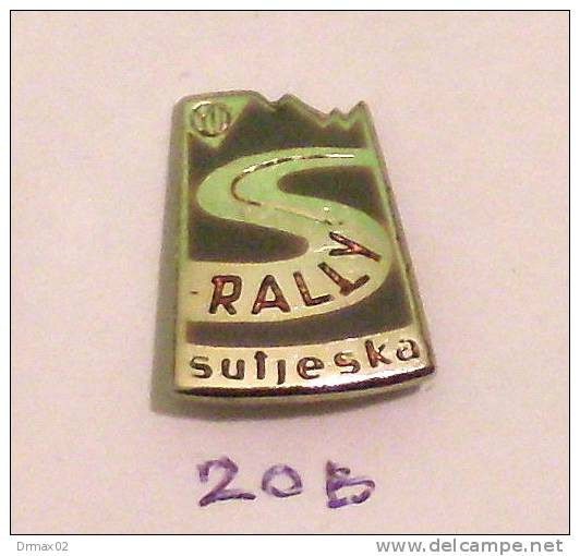 Pins RALLYE SUTJESKA Bosnia, Yugoslavia ( YU RALLY CUP - STATE Championship) Voiture De Course De Montagne, Car Race - Car Racing - F1