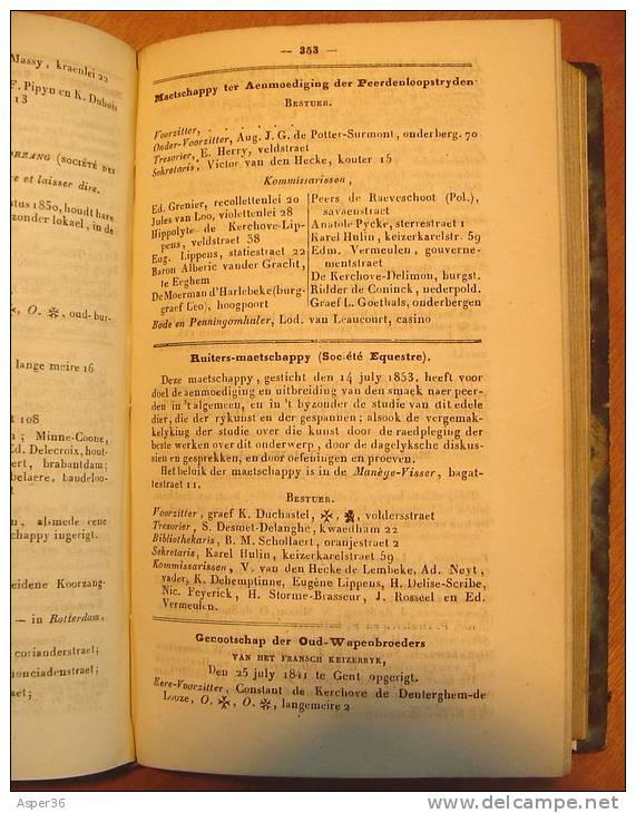 Wegwijzer Der Stad Gent & Oost-Vlaanderen 1860, Met 552 Bladzijden - Boeken, Tijdschriften, Stripverhalen