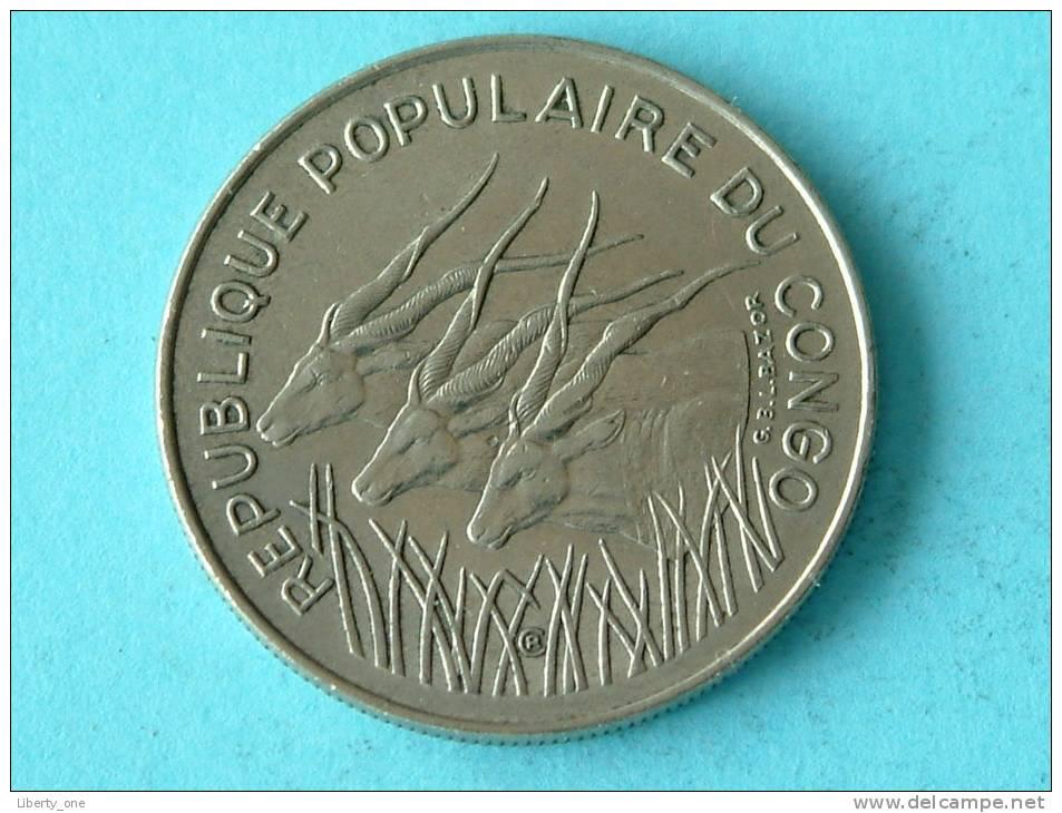 1972 - 100 FRANC / KM 1 ( Uncleaned Coin / For Grade, Please See Photo ) !! - Congo (République 1960)