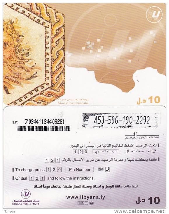 Libya, Prepaid O, Mosaic From Sabatha. - Libia