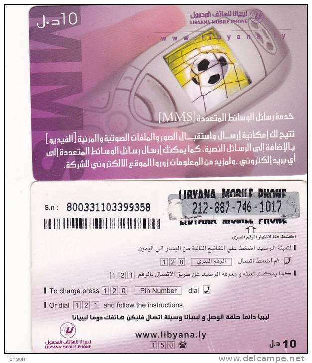 Libya, Prepaid Q, Cellphone With Football. - Libya
