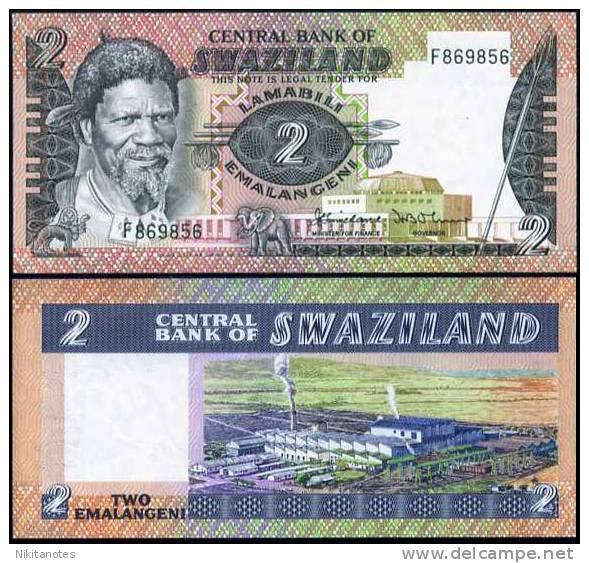SWAZILAND 2 EMALANGENI 1983 P 8 SIGN 2 UNC - Swaziland