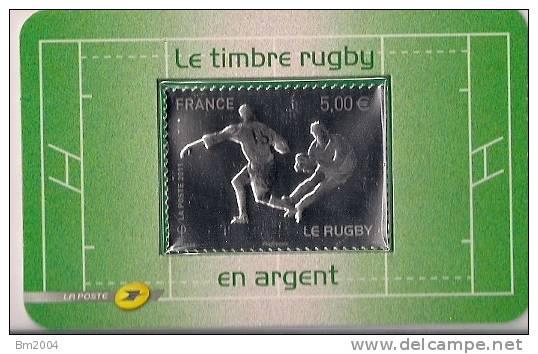 2011 Frankreich France  Mi. 5164 **MNH  Le Timbre Rugby En Argent - Blocs & Feuillets