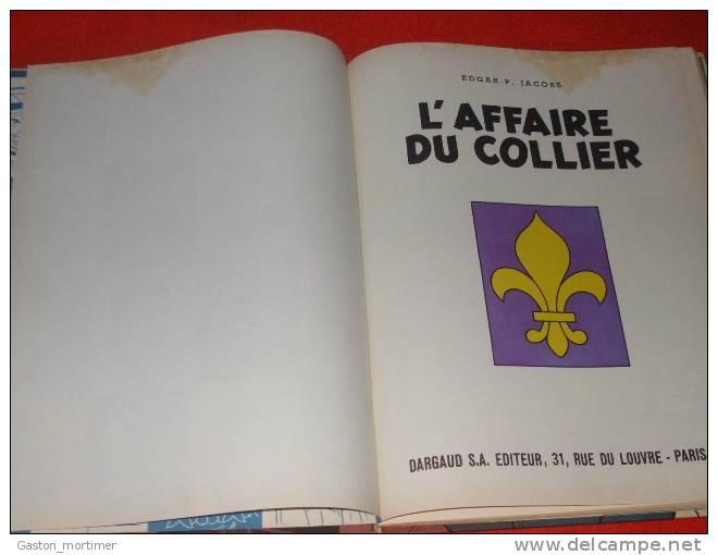 Edgard P. Jacobs - Blake Et Mortimer - Affaire Du Collier - 1967 - EO - Blake Et Mortimer